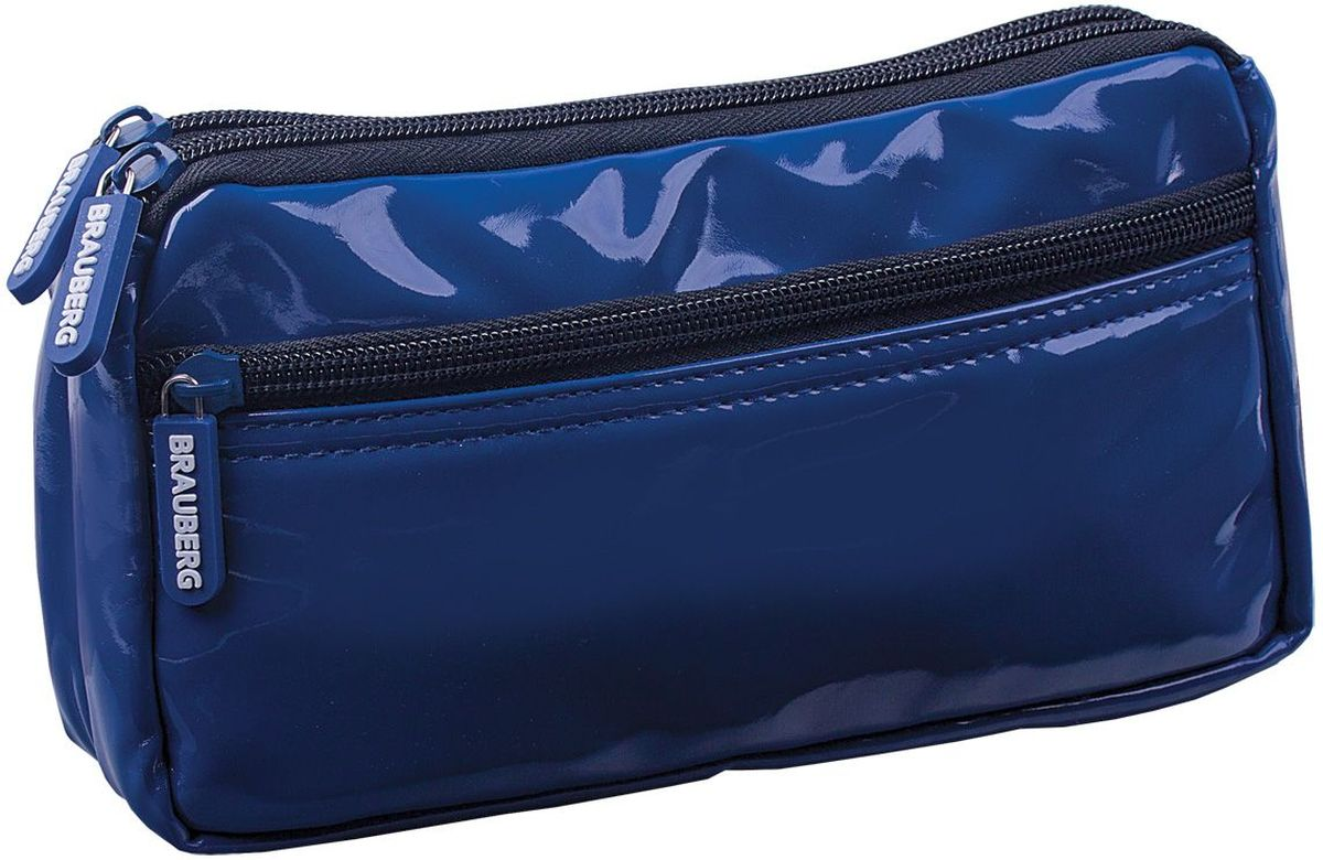 Brauberg Пенал-косметичка Милан цвет синий224039Пенал-косметичка Brauberg представлен в синем цвете. Выполнен из мягкой искусственной кожи и отличается элегантным и лаконичным дизайном. Стильный аксессуар позволяет систематизировать и хранить все необходимые мелочи в порядке.