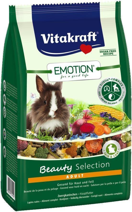 Корм для кроликов Vitakraft Beauty Selection, 600 г33745Сбалансированный корм для взрослых кроликов. Содержит пребиотик инулин, все жизненно важные аминокислоты и докозагексаеновую кислоту, важную для функции сердца, головного мозга и иммунной системы. Содержит ценные масла, обеспечивающие красивую и здоровую шерсть. Состав: продукты растительного происхождения, злаки 20,9%, овощи 16,6%, инулин 2%, семена, васильки 1%, масла и жиры 0,91%, минералы, водоросли, экстракт юкки. Анализ состава:15% клетчатка, 0,06% ДГК. Пищевые добавки на 1 кг: DL-метионин 3960 мг, витамин А 15491 МЕ, витамин Д3 1032 МЕ, селен 0,28 мг, железо 88,35 мг, йод 0,34 мг, медь 9,81 мг, марганец 48,26 мг, цинк 50,62 мг. Товар сертифицирован.