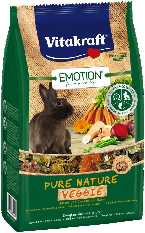 Корм для кроликов Vitakraft Pure Nature Veggie, 600 г корм vitakraft menu vital для кроликов 1 кг