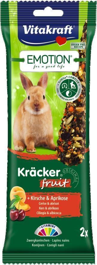 Крекеры для кроликов Vitakraft Fruit, с вишней и абрикосом, 2 шт корм для птиц vitakraft menu vital для волнистых попугаев основной 1кг