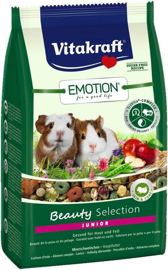 Корм Vitakraft Beauty Selection для молодых морских свинок, 600 г корм для птиц vitakraft menu vital для волнистых попугаев основной 1кг