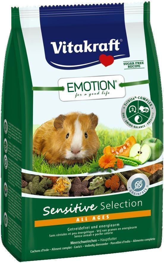 Корм для морских свинок Vitakraft Sensitive Selection, 600 г корм для птиц vitakraft menu vital для волнистых попугаев основной 1кг