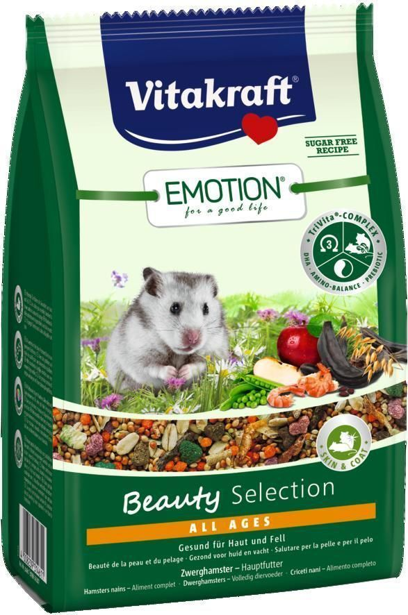 Корм для карликовых хомяков Vitakraft Beauty Selection, 300 г vitakraft корм для хомяков vitakraft menu vital 400 г