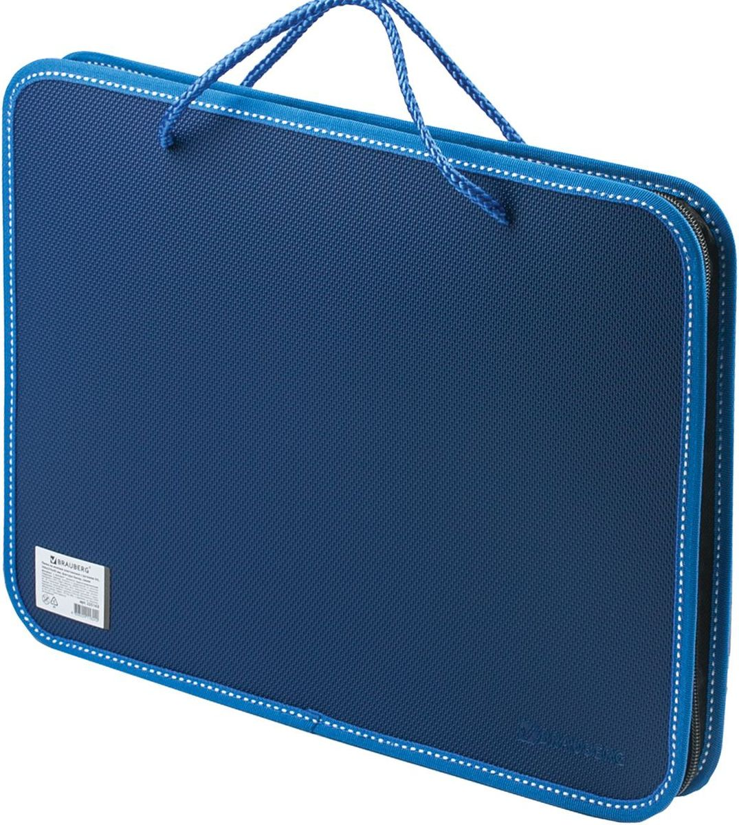 Brauberg Сумка-папка цвет синий brauberg папка для тетрадей футбол