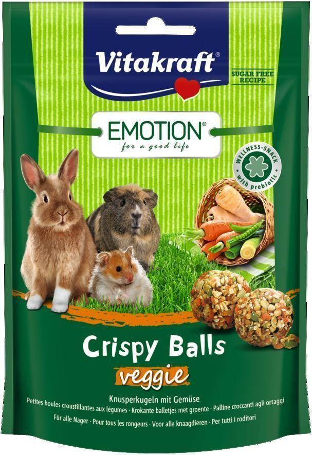 Лакомство для грызунов Vitakraft Crispy, шарики овощные, 80 г корм для птиц vitakraft menu vital для волнистых попугаев основной 1кг