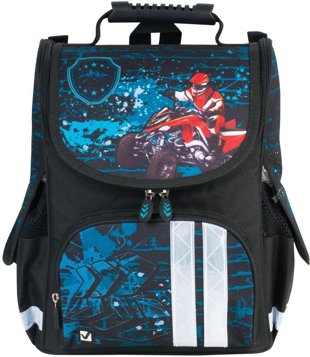 Brauberg Ранец школьный Квадроциклист 225335 школьные рюкзаки brauberg ранец райдер 20 л