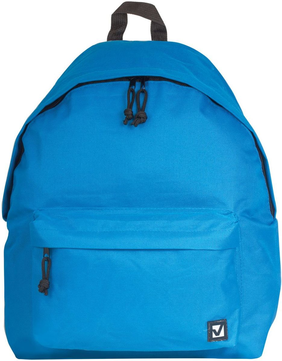 Brauberg Рюкзак Сити-формат цвет голубой225374Классический однотонный рюкзак Brauberg Сити-формат станет незаменимым спутником активной молодежи, которая ценит практичность. Плотная ткань рюкзака обеспечит сохранность содержимого, а вместительное отделение позволит иметь при себе все необходимое.Рюкзак содержит одно отделение на застежке-молнии. На лицевой стороне изделия располагается вместительный карман на молнии. Рюкзак оснащен текстильной петлей для переноски в руке и широкими лямками регулируемой длины.