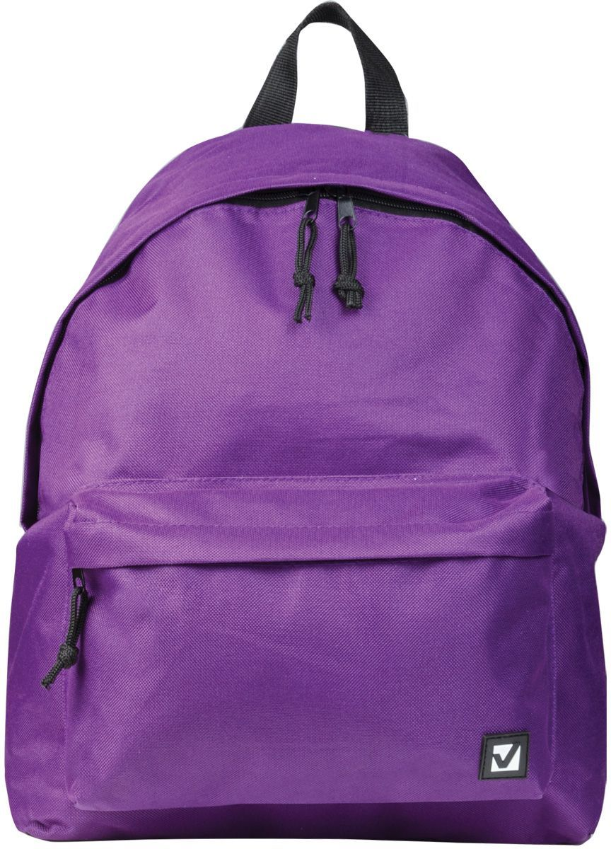Brauberg Рюкзак Сити-формат цвет фиолетовый225376Классический однотонный рюкзак Brauberg Сити-формат сдержанной расцветки станет незаменимым спутником активной молодежи, которая ценит практичность. Плотная ткань рюкзака обеспечит сохранность содержимого, а вместительное отделение позволит иметь при себе все необходимое.Рюкзак содержит одно отделение на застежке-молнии. На лицевой стороне изделия располагается вместительный карман на молнии. Рюкзак оснащен текстильной петлей для переноски в руке и широкими лямками регулируемой длины.