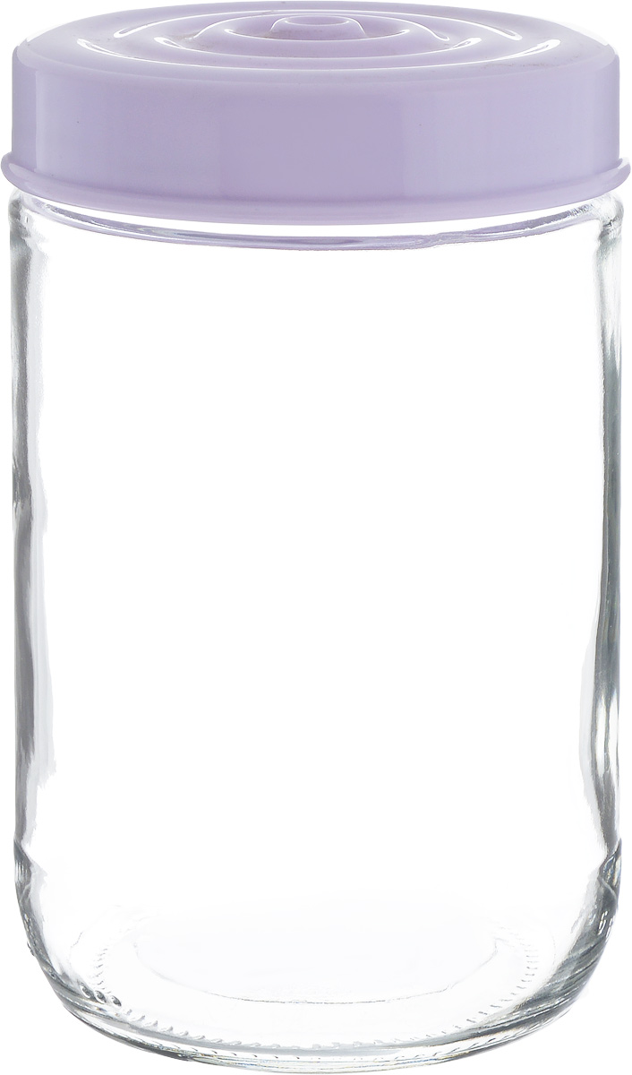 Банка для сыпучих продуктов Herevin, цвет: сиреневый, прозрачный, 660 мл. 140367-500L2430908Банка для сыпучих продуктов Herevin выполнена из высококачественного прочного стекла. Изделие снабжено плотно закручивающейся пластиковой крышкой с рельефом. Прозрачные стенки позволяют видеть содержимое. Такая банка отлично подойдет для хранения различных сыпучих продуктов: орехов, сухофруктов, чая, кофе, специй.Диаметр банки: 8,5 см.Высота банки: 14 см.
