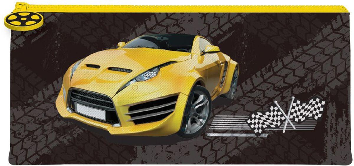 Brauberg Пенал-косметичка Желтая машина