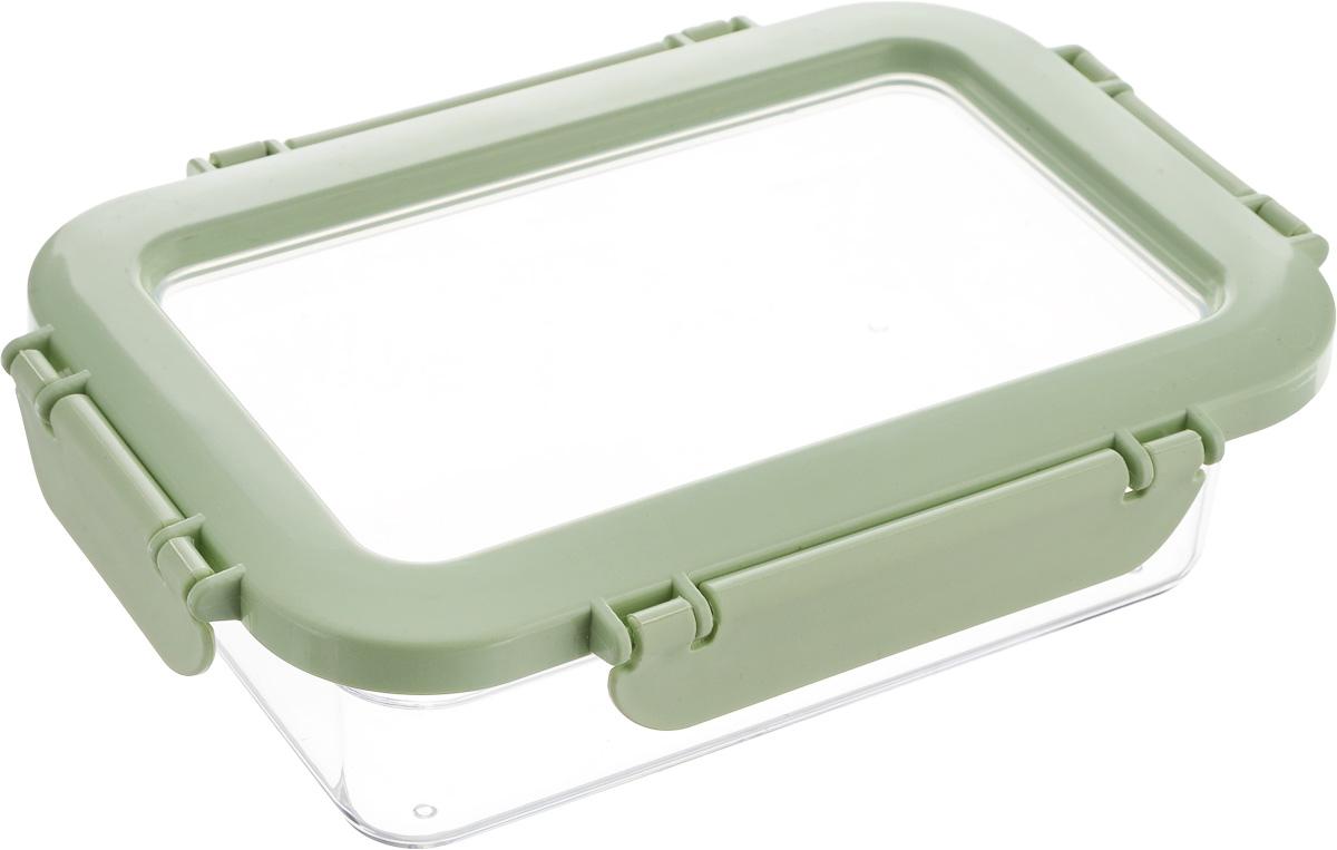 Контейнер для продуктов Herevin, цвет: мятный, прозрачный, 600 мл. 161426-500161426-500_мятныйКонтейнер для продуктов Herevin изготовлен из качественного пищевого пластика без содержания BPA. Крышка с 4 защелками плотно и герметично закрывается, поэтому продукты дольше остаются свежими. Прозрачные стенки позволяют видеть содержимое.Такой контейнер подойдет для использования дома, его можно взять с собой на работу, учебу, в поездку.Можно использовать в микроволновой печи без крышки. Нельзя мыть в посудомоечной машине.