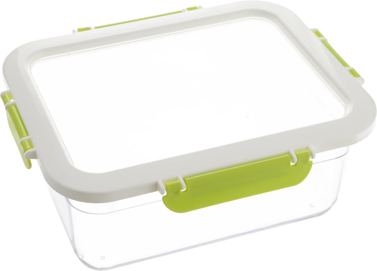 Контейнер для продуктов Herevin, цвет: прозрачный, белый, зеленый, 2,2 л161420-002Контейнер для продуктов Herevin изготовлен из качественного пищевого пластика без содержания BPA. Крышка с 4 защелками плотно и герметично закрывается, поэтому продукты дольше остаются свежими. Прозрачные стенки позволяют видеть содержимое.Такой контейнер подойдет для использования дома, его можно взять с собой на работу, учебу, в поездку.Можно использовать в микроволновой печи без крышки. Нельзя мыть в посудомоечной машине.