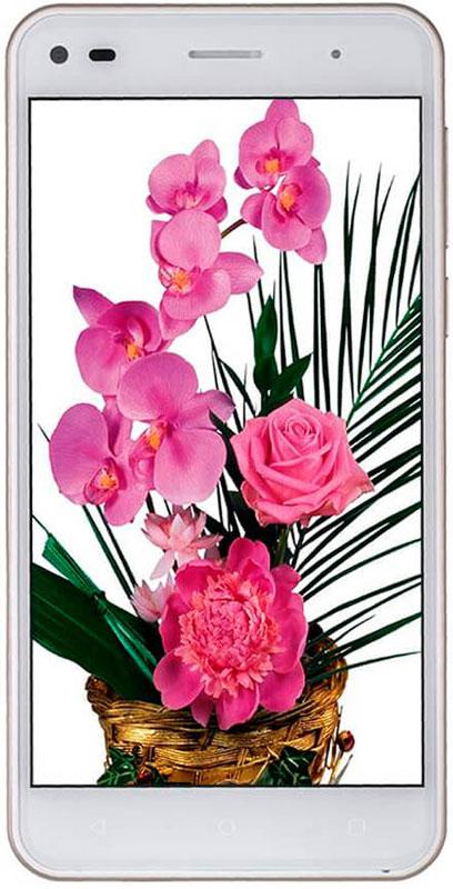 Fly Cirrus 4 FS507, White9988Fly Cirrus 4 FS507 вне всяких сомнений один из лучших представителей своей линейки. Смартфон в роскошном стеклянном корпусе с изогнутым 2.5D HD дисплеем работает на базе самой современной ОС Android Marshmallow.Тонкий стильный корпус со скошенными боковыми гранями и эргономичной формой поразит вас лёгкостью и комфортом в управлении. Стеклянная глянцевая поверхность задней крышки в сочетании с лаконичными операционными кнопками на передней панели создают завершенный образ, который никого не оставит равнодушным.Наслаждайтесь чистым и чётким изображением на широком 5 экране с HD разрешением. Дисплей создан с применением технологии ONCELL, позволяющей сократить толщину дисплея и улучшить цветопередачу, благодаря чему изображение останется ярким и насыщенным даже на солнечном свете.Четырехъядерный процессор MT6580A имеет тактовую частоту 1.3 ГГц. Эффективное распределение мощностей в соответствии с текущей задачей и наличие 1 ГБ оперативной памяти позволяют Fly Cirrus 4 быстро обрабатывать пользовательские запросы и обеспечивать быстродействие системы.Оцените превосходное качество снимков на 8 Мпикс камеру с автофокусом и мощной вспышкой! Яркие и четкие фото и видео в Full HD разрешении помогут оставить в памяти самые яркие моменты этого лета, а с 2 Мпикс фронтальной камерой так легко делать красивые селфи-снимки.Забудьте о нехватке памяти - Fly Cirrus 4 оснащён 8 ГБ встроенной и 1 ГБ оперативной памяти. При необходимости основную Flash-память можно расширить съемной картой памяти (до 32 ГБ) и записывать на неё фото и видео-файлы.Поддержка 3G сетей и Wi-Fi обеспечивает скоростной доступ в Интернет, а модуль GPS - навигации не даст потеряться в пути. Fly Cirrus 4 традиционно оснащён двумя слотами под SIM-карты и позволяет удобно комбинировать личные и рабочие звонки в одном смартфоне.Телефон сертифицирован EAC и имеет русифицированный интерфейс меню и Руководство пользователя.