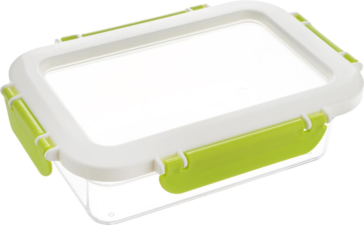 Контейнер для продуктов Herevin, 600 мл. 161426-002161426-002Контейнер для продуктов Herevin изготовлен из качественного пищевого пластика без содержания BPA. Крышка с 4 защелками плотно и герметично закрывается, поэтому продукты дольше остаются свежими. Прозрачные стенки позволяют видеть содержимое.Такой контейнер подойдет для использования дома, его можно взять с собой на работу, учебу, в поездку.Можно использовать в микроволновой печи без крышки. Нельзя мыть в посудомоечной машине.