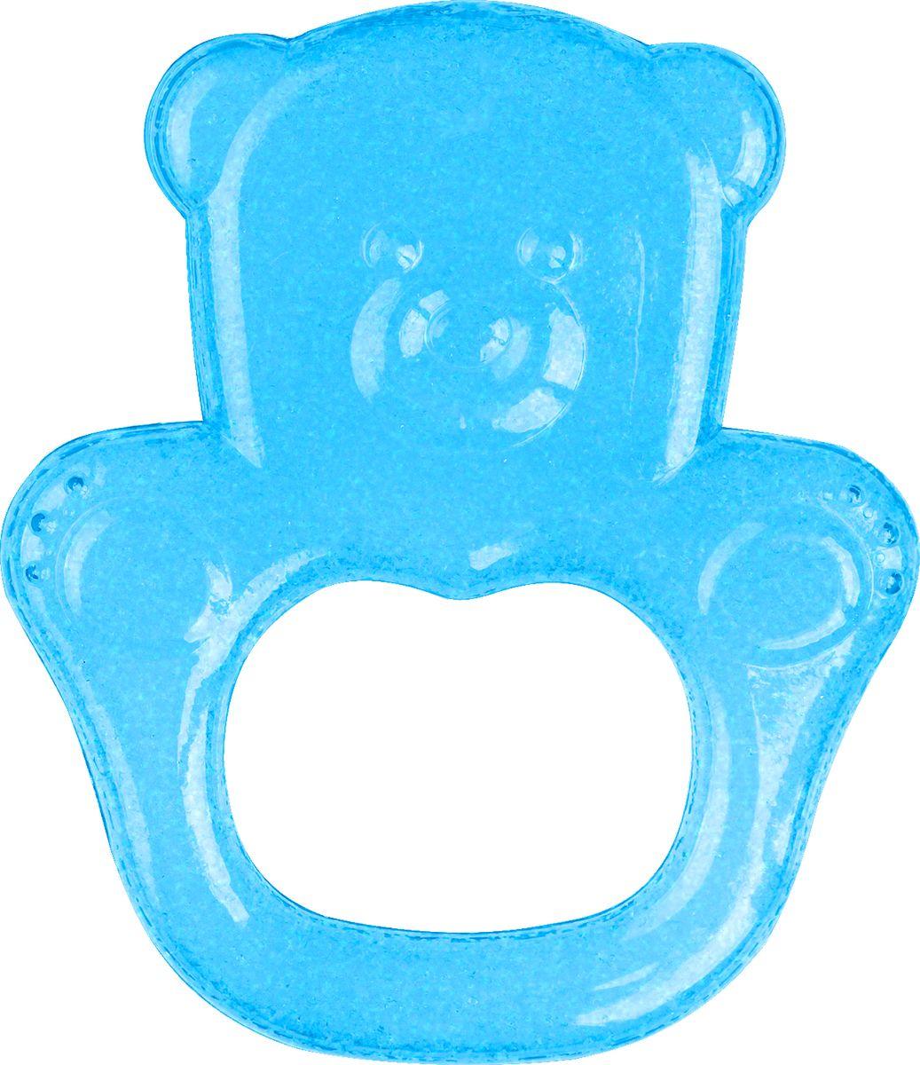 BabyOno Прорезыватель охлаждающий Мишка цвет голубой погремушки babyono прорезыватель черепашка