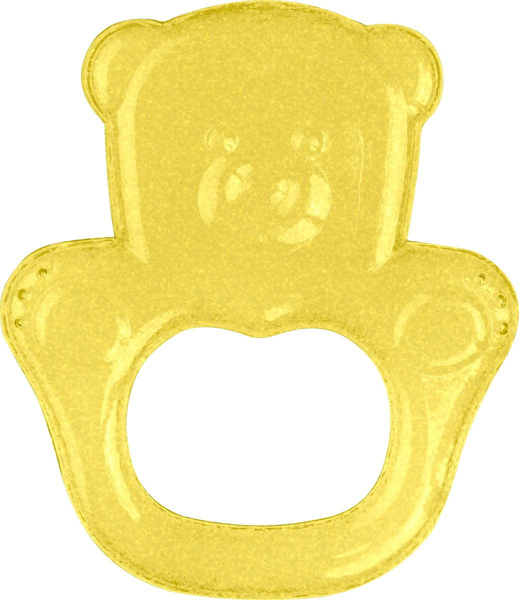 BabyOno Прорезыватель охлаждающий Мишка цвет желтый