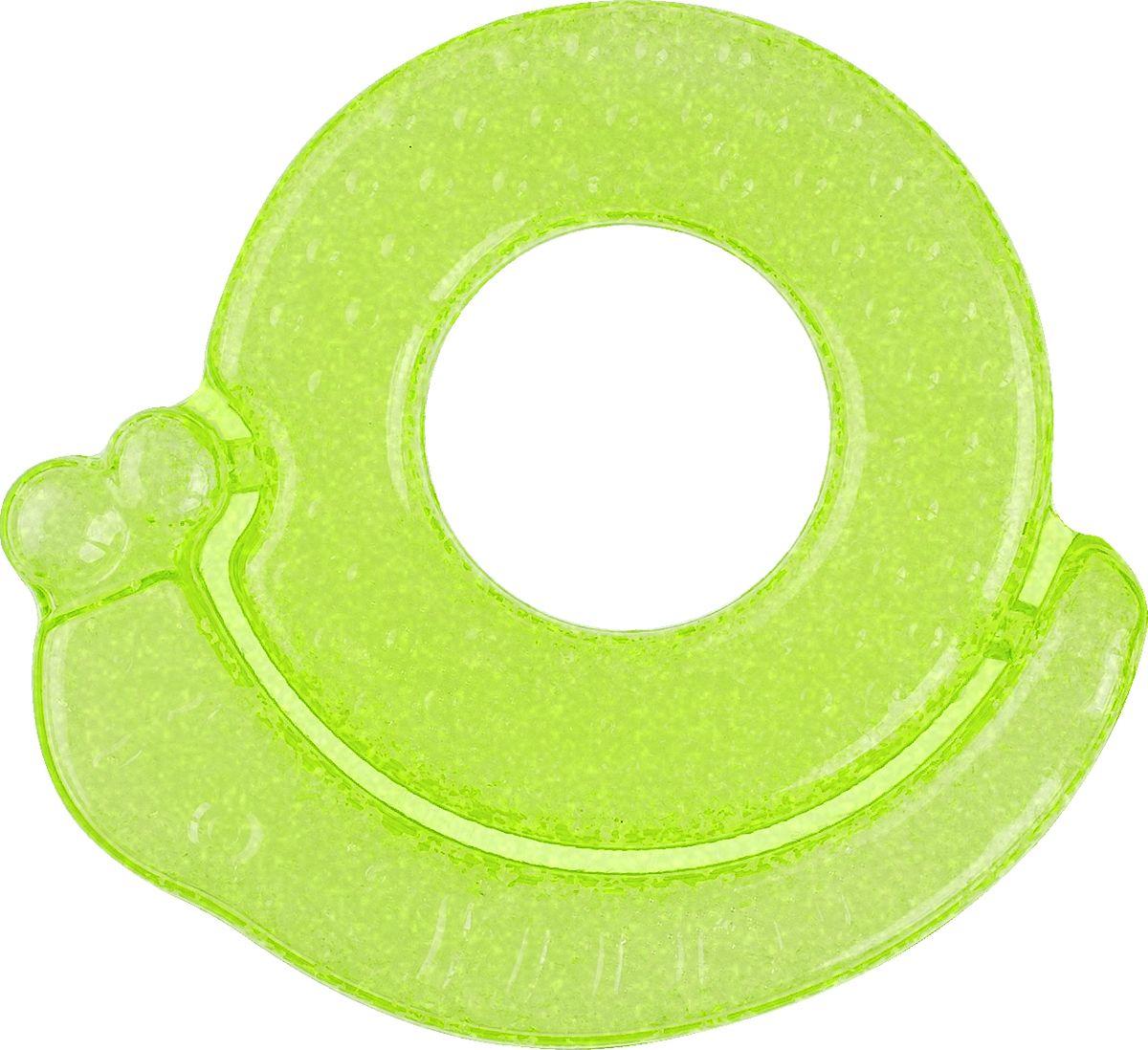 BabyOno Прорезыватель охлаждающий Улитка цвет зеленый погремушки babyono прорезыватель коралл