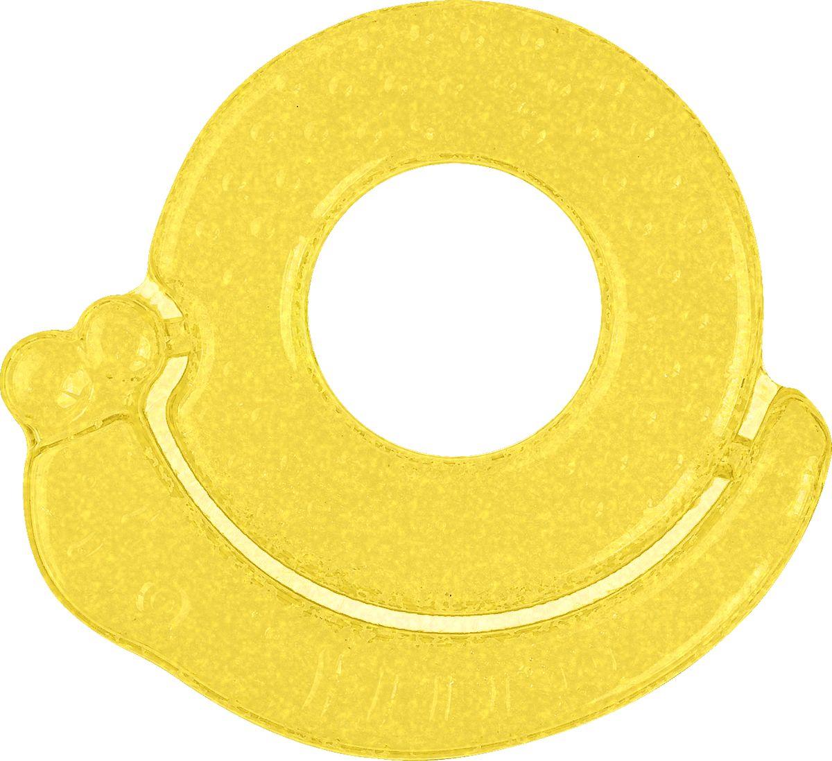 BabyOno Гелевый прорезыватель для зубов Улитка цвет желтый