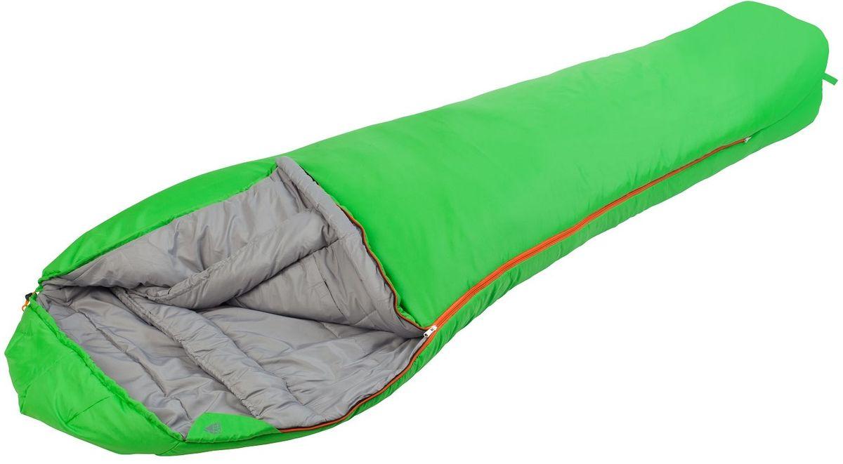 Спальный мешок TREK PLANET Redmoon, цвет: зеленый, левосторонняя молния