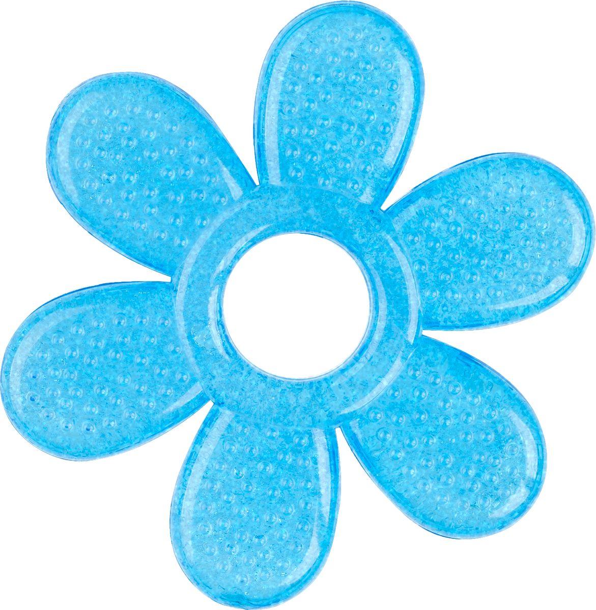 BabyOno Прорезыватель охлаждающий Лепесток цвет голубой