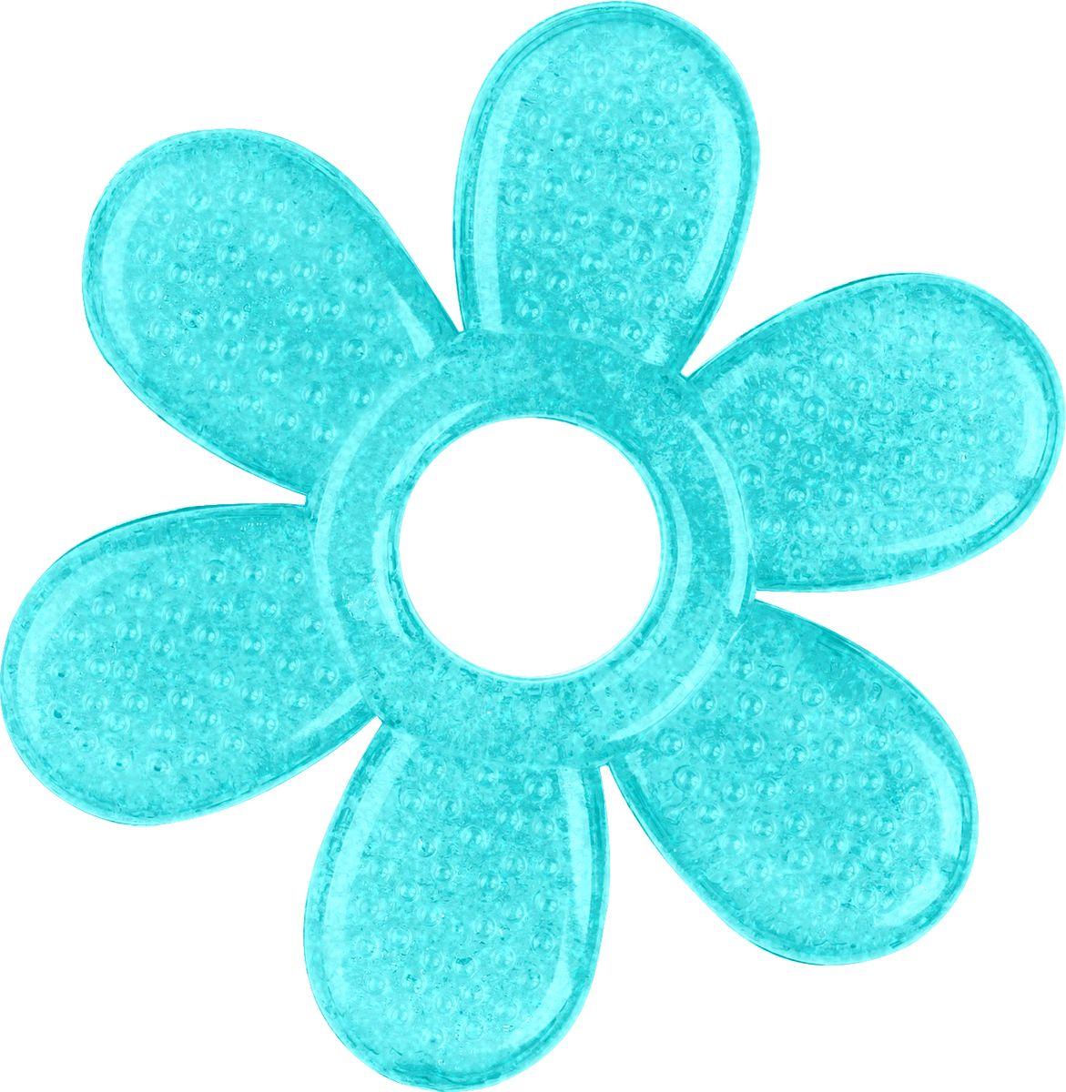 BabyOno Прорезыватель охлаждающий Лепесток цвет бирюзовый