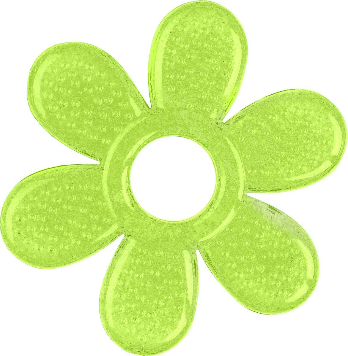 BabyOno Прорезыватель охлаждающий Лепесток цвет зеленый погремушки babyono прорезыватель черепашка