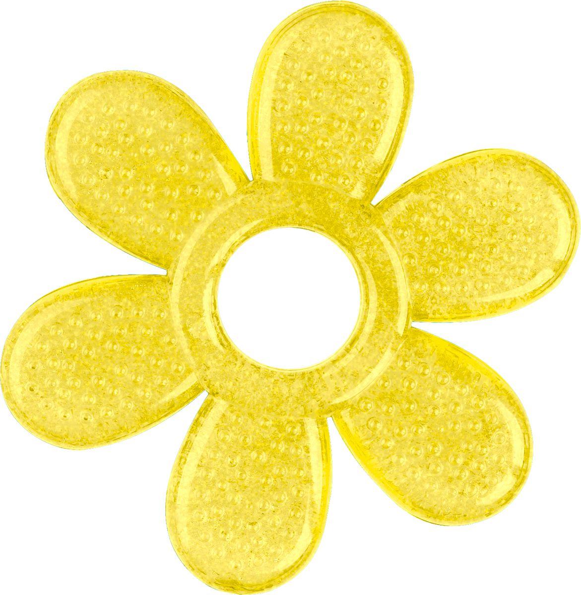 BabyOno Прорезыватель охлаждающий Лепесток цвет желтый