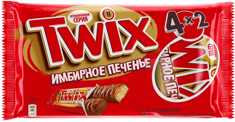 Twix Имбирное печенье шоколадный батончик, 4 шт по 55 г частная галерея ирландское имбирное печенье со специями 130 г