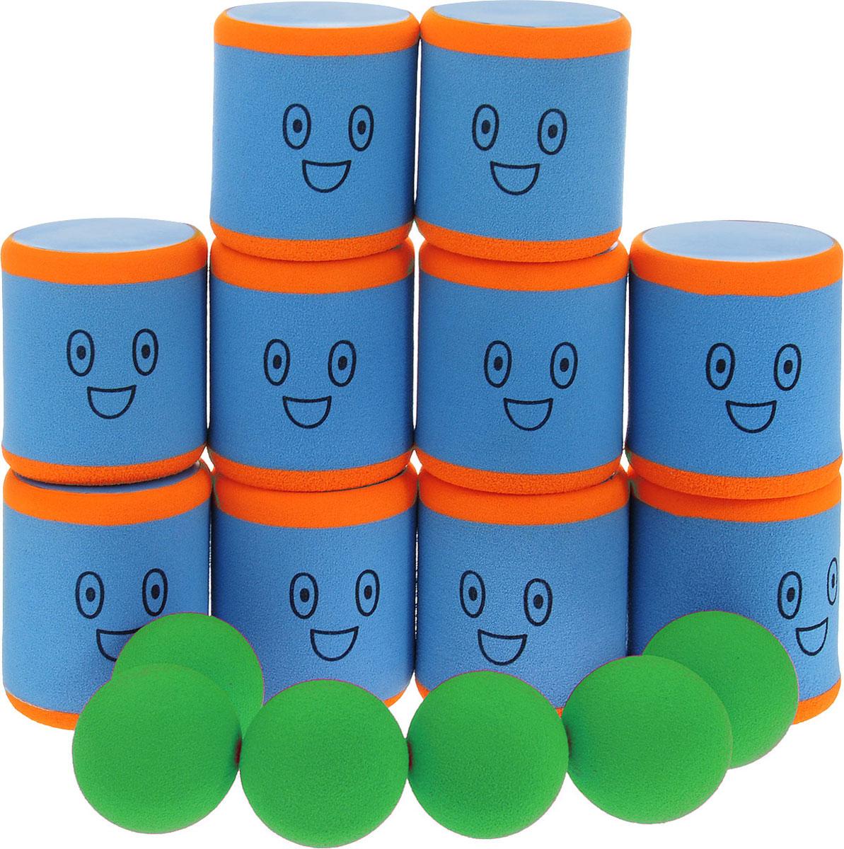 Safsof Игровой набор Городки цвет голубой оранжевый зеленый
