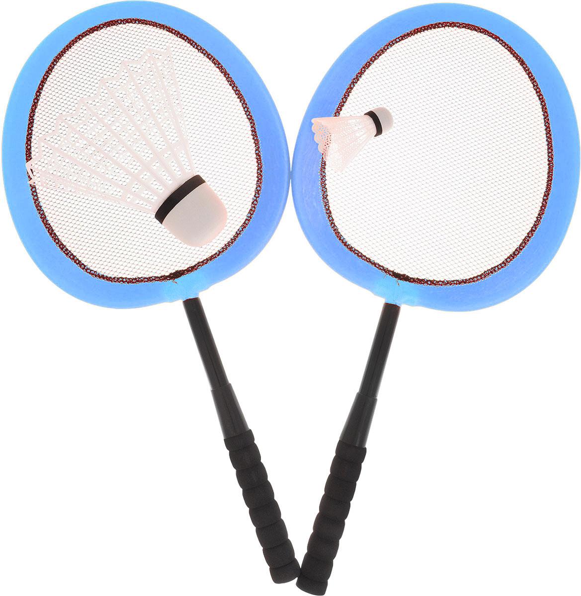ABtoys Игровой набор Бадминтон цвет голубой сколько стоит бадминтон в спортмастере
