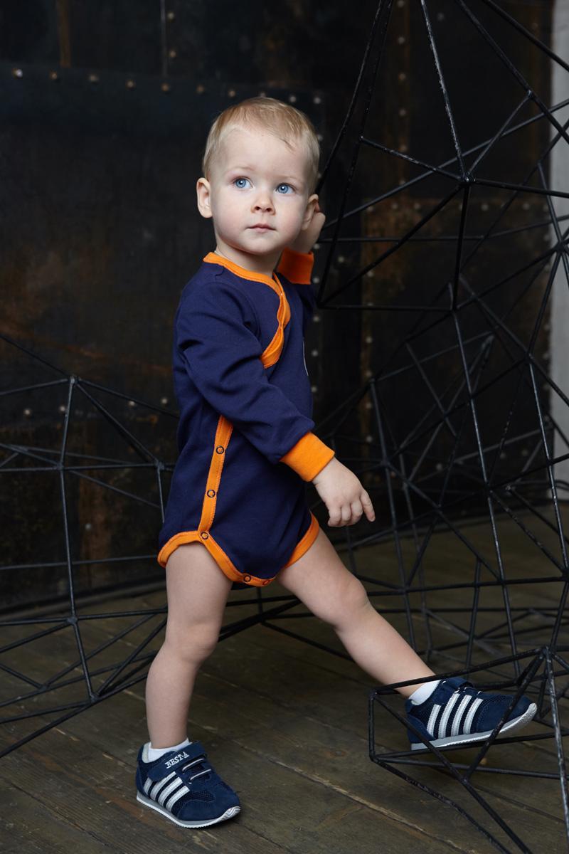 Боди для мальчика Lucky Child Умка, цвет: синий. 32-5. Размер 80/86 цена