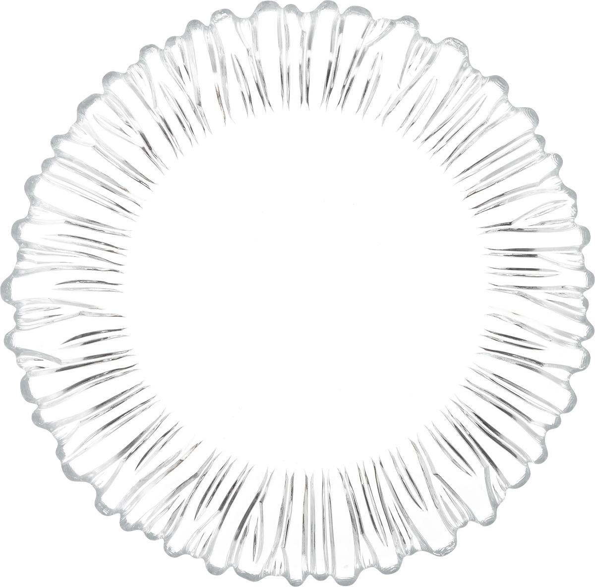 Блюдо Pasabahce Аврора, диаметр 31,5 см10499SLBБлюдо Pasabahce Аврора изготовлено из качественного натрий-кальций-силикатного стекла, которое отличается прочностью и износостойкостью. Изделие дополнено изысканным рельефом. Отлично подходит для сервировки десертов, закусок, нарезок и многого другого. Такое блюдо изысканно дополнит сервировку стола.