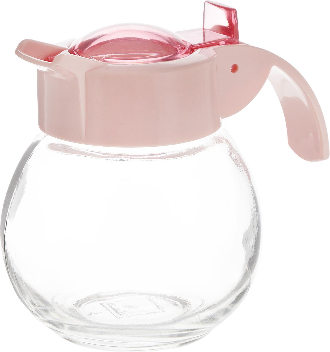 Емкость для жидкости Herevin, цвет: розовый, прозрачный, 180 мл131671-500_розовыйЕмкость для жидкости Herevin выполнена из качественного прочного стекла, снабжена пластиковой ручкой и откидной крышкой. Форма носика обеспечивает наливание жидкости без расплескивания. Емкость легка в использовании, стоит только перевернуть ее, и вы с легкостью сможете добавить оливковое или подсолнечное масло, уксус или соус. Крышка легко откручивается, что позволяет без труда наполнить емкость.Диаметр (по верхнему краю): 5 см. Высота емкости: 9 см.