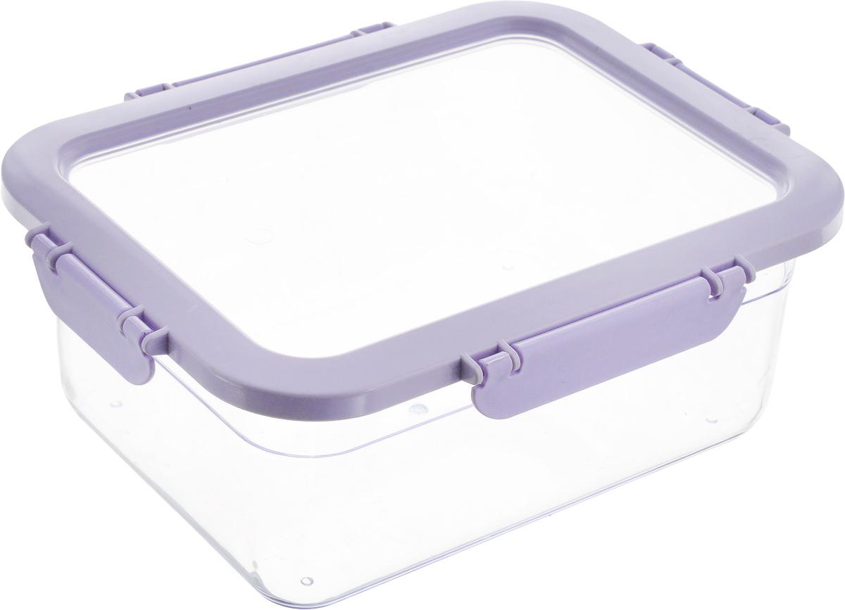 Контейнер для продуктов Herevin, цвет: прозрачный, сиреневый, 2,2 л161420-500_сиреневыйКонтейнер для продуктов Herevin изготовлен из качественного пищевого пластика без содержания BPA. Крышка с 4 защелками плотно и герметично закрывается, поэтому продукты дольше остаются свежими. Прозрачные стенки позволяют видеть содержимое. Такой контейнер подойдет для использования дома, его можно взять с собой на работу, учебу, в поездку. Можно использовать в микроволновой печи без крышки. Нельзя мыть в посудомоечной машине.