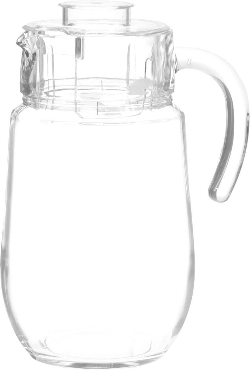 """Кувшин Luminarc """"Багамы"""", выполненный из  высококачественного стекла, оснащен удобной ручкой и  пластиковой крышкой. В таком кувшине будет удобно хранить и  подавать на стол молоко, соки или воду.   Кувшин Luminarc """"Багамы"""" украсит любой кухонный интерьер и  станет хорошим подарком для ваших близких.  Диаметр кувшина (по верхнему краю): 9,5 см.  Высота кувшина (без учета крышки): 21,3 см."""