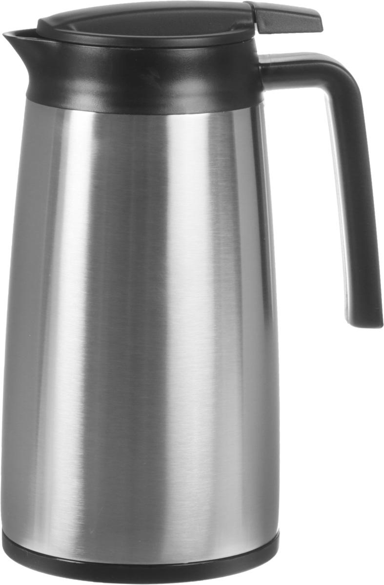 """Термос Tescoma """"Constant"""" станет великолепным дополнением вашей кухонной утвари. Такой термос - это отличное решение для безопасной сервировки и хранения теплых, горячих или холодных напитков. Двойная колба из нержавеющей стали сохраняет и поддерживает первоначальную температуру напитка, поэтому вы сможете насладиться теплым чаем или любимым прохладительным напитком. Практичная и удобная форма в виде чайника позволит брать с собой термос, куда бы вы не направились: на пикник, на дачу или в небольшой поход. Для большего удобства предусмотрена крышка-дозатор и удлиненный носик для простого наливания напитков.Объем термоса: 1,2 л.Диаметр термоса (по верхнему краю): 9 см.Диаметр горлышка: 4,5 см.Высота термоса (с учетом крышки): 23,5 см.- предназначен для использования зимой и летом, дома, на работе и в поездках - сохранит напиток горячим или холодным на длительное время - возможность дозирования жидкостей"""