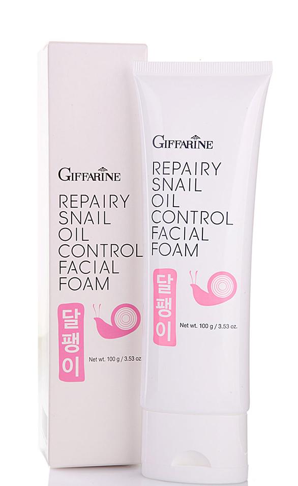 Giffarine Восстанавливающая пенка с фильтратом улитки для очищения кожи лица, 100 г масла giffarine травяной ингалятор карандаш от giffarine по 2 шт в упаковке