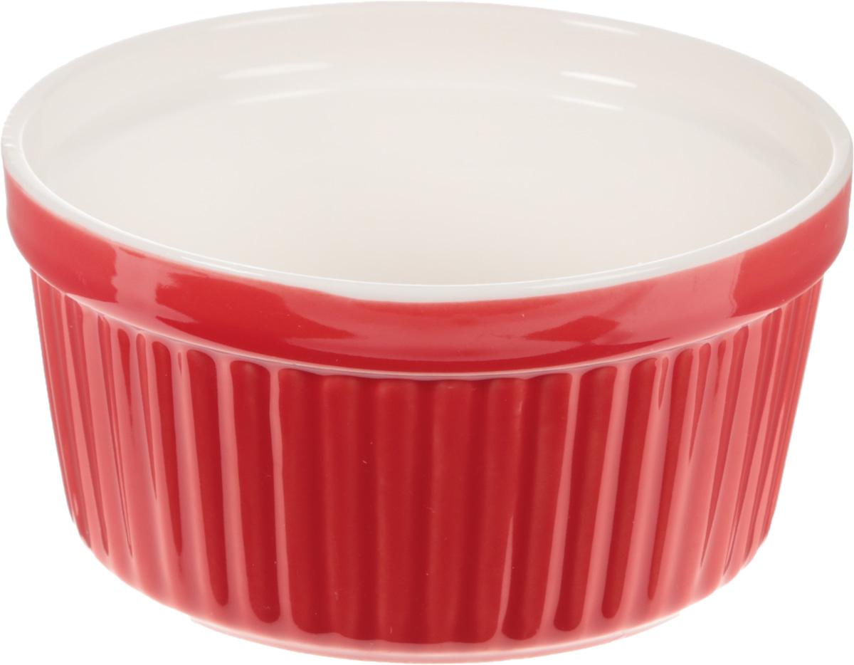 """Форма для запекания """"Calve"""", выполненная из жаропрочной   керамики, подходит для использования в духовке. Во время   процесса приготовления посуда из керамики впитывает   лишнюю влагу из продукта и хранит тепло.  Подходит для хранения в холодильнике и морозильной камере.    Можно мыть в посудомоечной машине.   Диаметр (по верхнему краю): 9,7 см.  Высота: 5,5 см. Объем: 250 мл.     Как выбрать форму для выпечки – статья на OZON Гид."""
