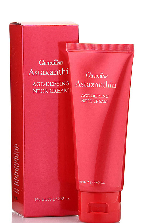Giffarine Анти возрастной интенсивный крем для области шеи и зоны декольте Астаксантин, 75 г масла giffarine травяной ингалятор карандаш от giffarine по 2 шт в упаковке