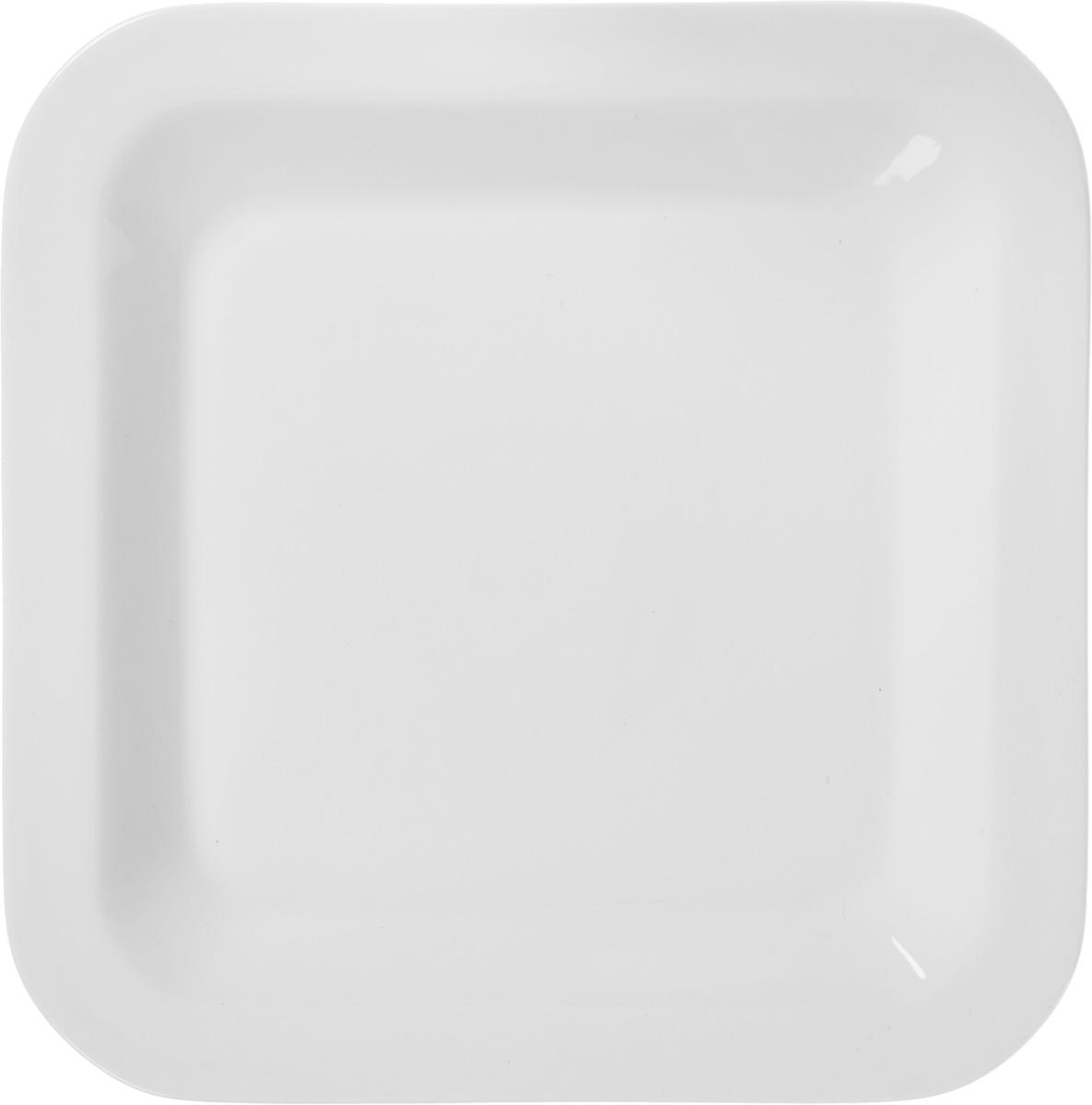 Тарелка десертная Tescoma Gustito, цвет: белый, 20 х 20см тарелка tescoma gustito 27 х 27 см