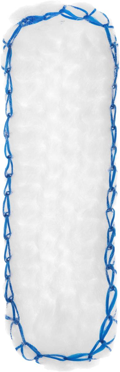 """Мочалка Eva """"Облако"""", с ручками, цвет: синий, белый, 36 х 12 см. М399"""