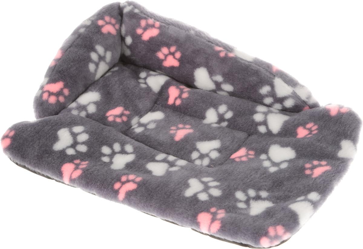 Лежак для животных Elite Valley Софа, цвет: серый, белый, розовый, 50 х 38 х 12 см. Л-6/2Л-6/2_серый, лапки розовые и белыеЛежак для животных Elite Valley Софа изготовлен из искусственного меха и нетканого материала, наполнитель - холлофайбер. Он станет излюбленным местом вашего питомца, подарит ему спокойный и комфортный сон, а также убережет вашу мебель от многочисленной шерсти. На таком лежаке вашему любимцу будет мягко и тепло.