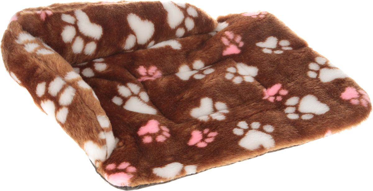 """Лежак для животных Elite Valley """"Софа"""", цвет: светло-коричневый, розовый, белый, 46 х 33 х 11 см. Л-6/1"""