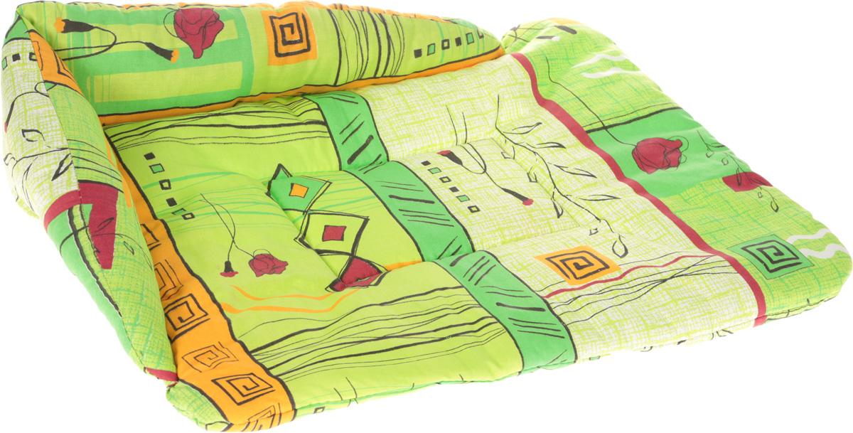 Лежак для животных Elite Valley Софа, цвет: зеленый, желтый, красный, 56 х 44 х 13 см. Л-5/3Л5/3 Лежак открытый СОФА _ стамбул зеленый, материал бязь, холофайберЛежак для животных Elite Valley Софа изготовлен из высококачественной бязи, наполнитель - холлофайбер. Он станет излюбленным местом вашего питомца, подарит ему спокойный и комфортный сон, а также убережет вашу мебель от шерсти. На таком лежаке вашему любимцу будет мягко и тепло. Яркий дизайн позволяет выглядеть привлекательным даже в период линьки.