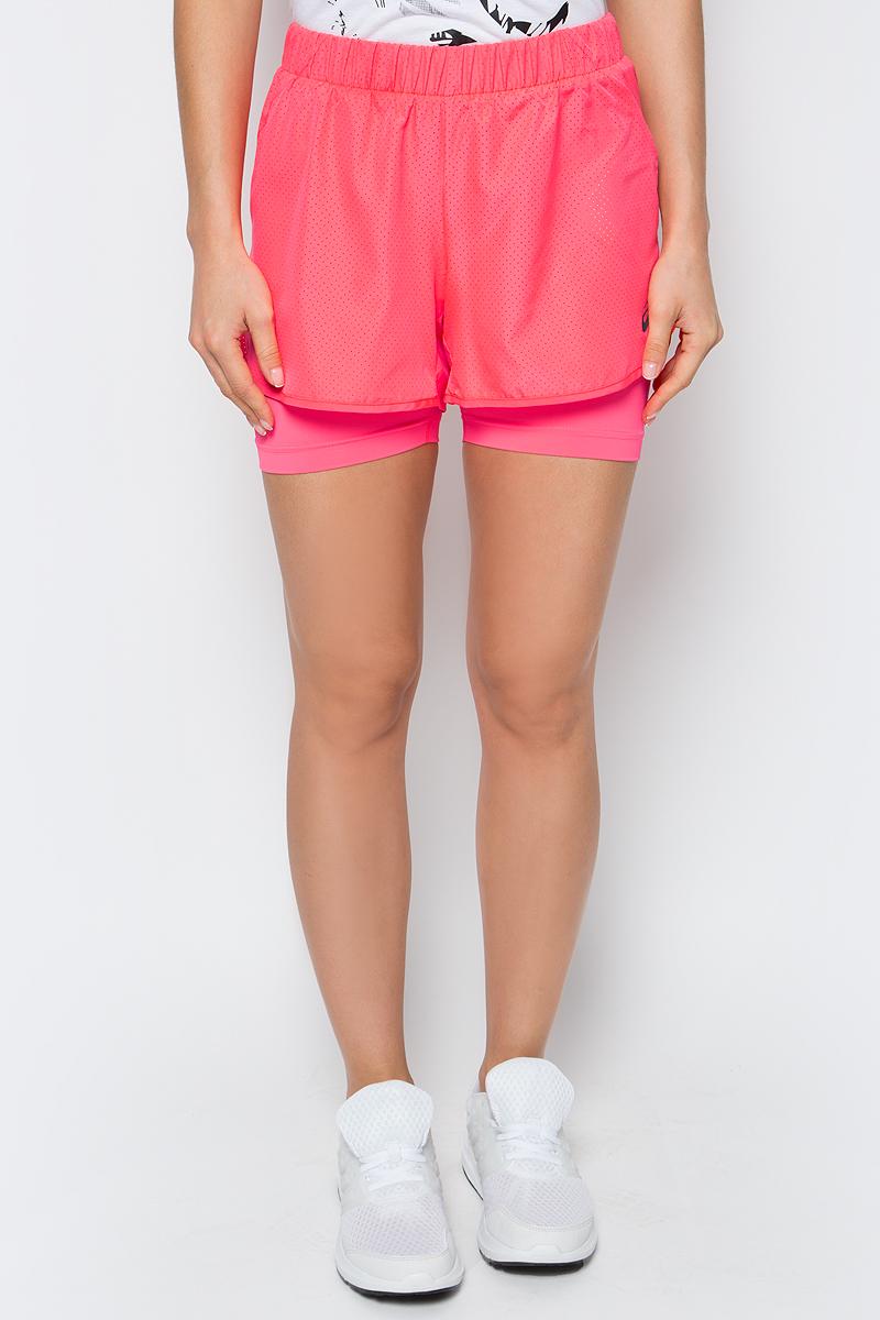 Шорты для бега женские Asics 2-N-1 3.5in Short, цвет: розовый. 141227-0688. Размер XS (40/42) топ бра для фитнеса asics racerback bra цвет розовый 141117 0688 размер xs 40 42
