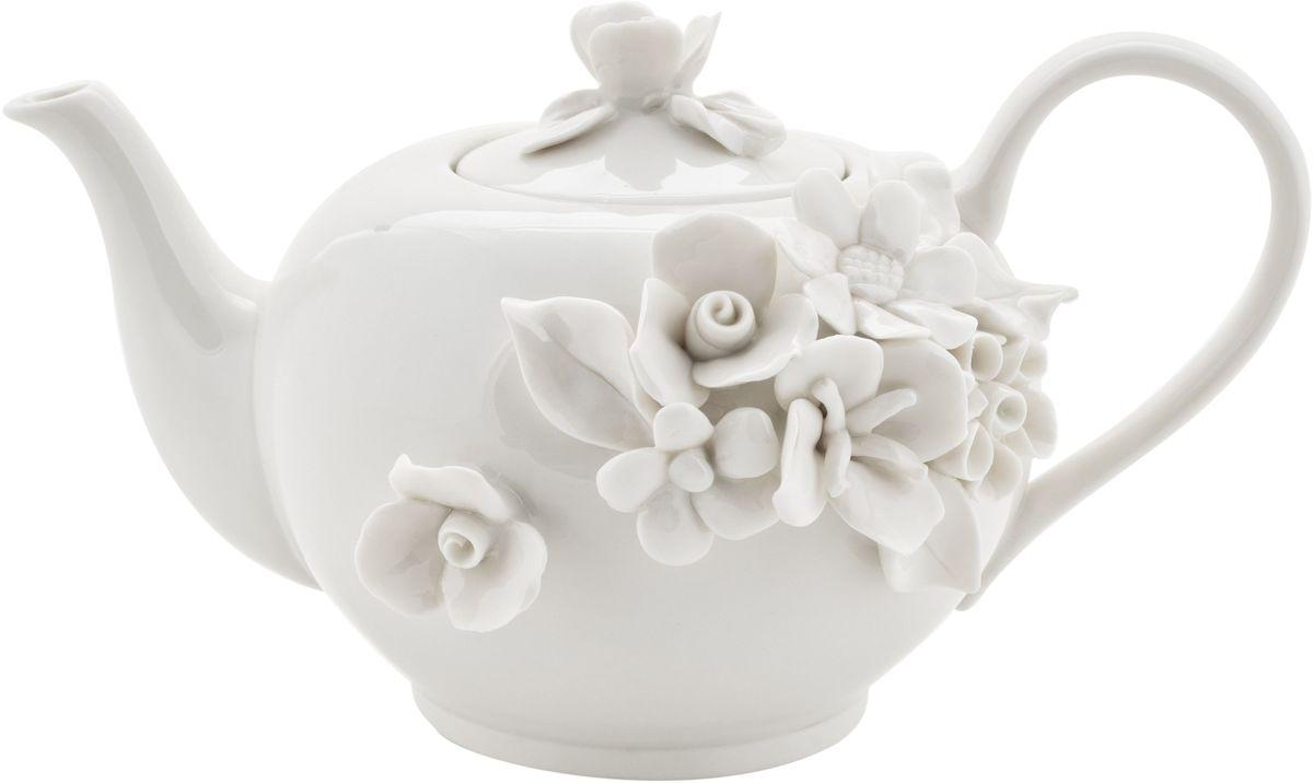 Чайник заварочный Elff Decor Italy Design, 770 мл130-024Чайник из серии посуды Italy design, в которой каждый предмет выглядит невероятно нежно и изысканно. Нежные цветы и порхающие бабочки, эта роскошная коллекция - образец гармоничного дизайна в романтическом стиле. Оригинальная посуда на ножках сделает неповторимым ваш интерьер!