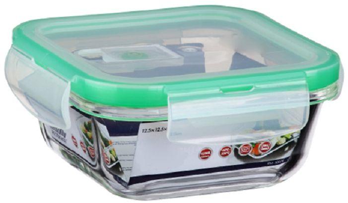 Контейнер для продуктов Elff Decor, цвет: зеленый, 420 мл1407-113Контейнер для хранения и запекания с вакуумной крышкой Изготовлена из жаропрочного стекла Температурный режим:-40С до 200С Размер: 12,5 х 12,5 х 5,15 см Объем-0,420 л