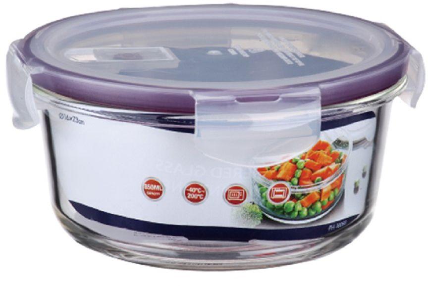 Контейнер для продуктов Elff Decor, цвет: фиолетовый, 850 мл1407-117Контейнер для хранения и запекания с вакуумной крышкой Изготовлена из жаропрочного стекла Температурный режим:-40С до 200С Размер: 16 х 7,3 см Объем-0,850 л
