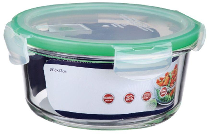 Контейнер для продуктов Elff Decor, цвет: зеленый, 850 мл1407-119Контейнер для хранения и запекания с вакуумной крышкой Изготовлена из жаропрочного стекла Температурный режим:-40С до 200С Размер: 16 х 7,3 см Объем-0,850 л