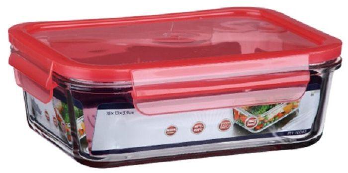 Контейнер для продуктов Elff Decor, цвет: красный, 650 мл1407-124Контейнер для хранения и запекания с герметичной крышкой Изготовлена из жаропрочного стекла Температурный режим:-40С до 200С Размер: 15,9 х 11,4 х 5,7 см Объем-0,650 л